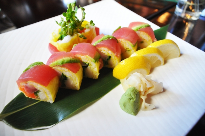 This sushi roll at Wasabi Tao is the perfect example of just how gluten free an appetizer can be, featuring avocado, white tuna and yellow-tail salmon.