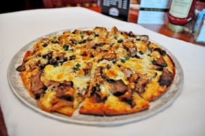 Many pizzas can be made gluten free, such as this mushroom specialty found at The Club Car.