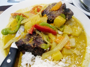 Curries, like this lamb chop yellow curry at King & I, are a popular way for Thais to eat rice.