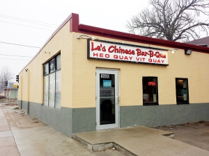 Le's Chinese Bar-B-Que is located at 1600 Second Ave., 244-6111.