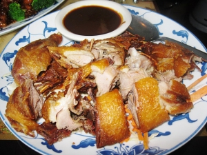 Roast duck at Great China.