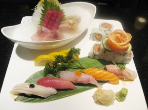 Sushi and sashimi platter at Wasabi Tao.