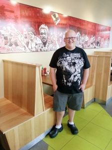 Tom McKern, 29, has been cooking at Zombie Burger since it opened in 2011.