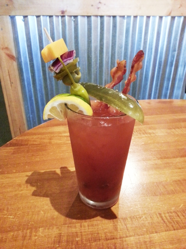Tally's Bloody Mary bar is offered each Sunday with extras like shrimp, peppers, bacon and pickles for a different taste each time.