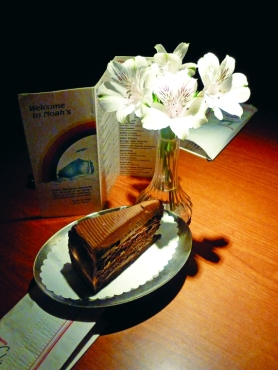 Chocolate Blackout Cake at Noah's Ark will make you deliriously chocolate.