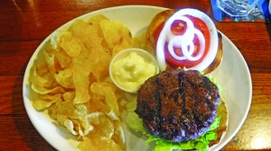 Iowa Beef Steakhouse is now open for lunch with open pit grilled burgers and steaks.