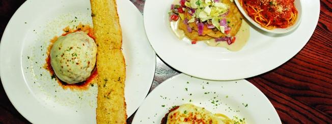 Jethroni Pepperoni.  Colossal Meatball, Chicken Artichoke and Chicken Parmesan.